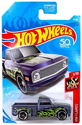 Hot Wheels 2018 50th Anniversary HW Flames Custom 69 Chevy Purple 11365 Purple