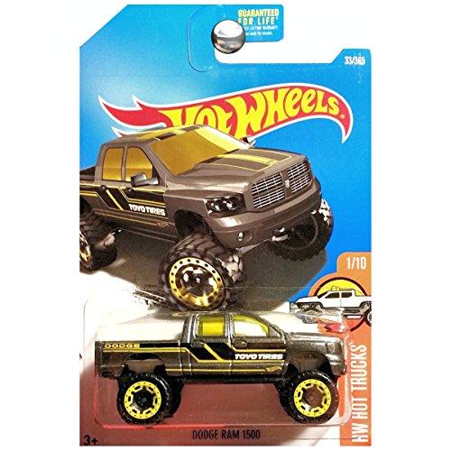 Hot Wheels 2017 HW Hot Trucks Dodge Ram 1500 Dark Gray 33365