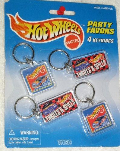 Hot Wheels Party Favors 4 keyrings by Tara Toys