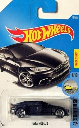 Hot Wheels 2017 Factory Fresh Tesla Model S Black 43365
