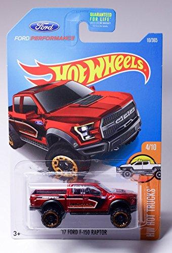 Hot Wheels 2017 HW Hot Trucks 17 Ford F-150 Raptor Maroon 10365