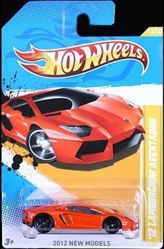2012 Hot Wheels New Models 12 Lamborghini Aventador Orange 12247
