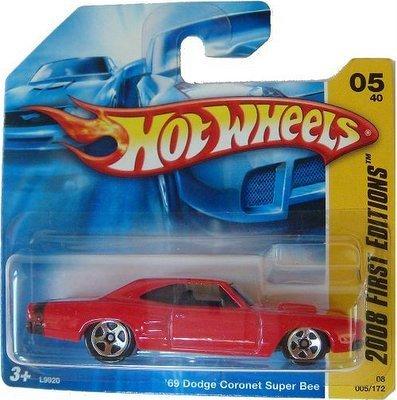 RED 69 Dodge Coronet Super Bee - Hot Wheels