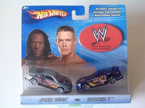 Hot Wheels World Wrestling Entertainment 2-Pack John Cena Monte Carlo Concept Car Booker T Dodge Viper GTS-R