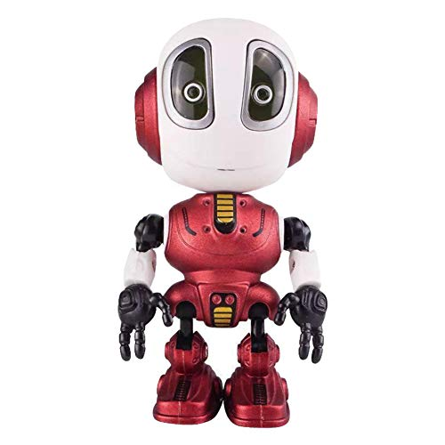 Debuy Smart Talking Robot LED Light Intelligent Recording Alloy Robot Electronic Doll Toy Red