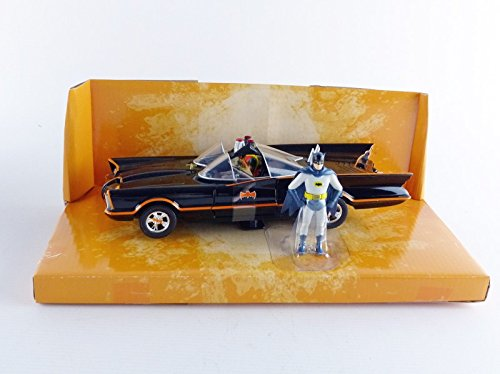 1966 Classic TV Series 1966 Batmobile with Diecast Batman and Plastic Robin Sitting Inside The Car 124 by Jada 98259