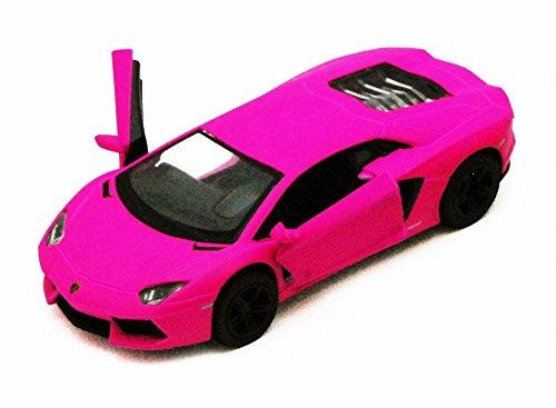 Lamborghini Aventador LP700-4 Hot Pink - Kinsmart 5370D - 138 scale Diecast Model Toy Car Brand New but NO BOX