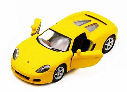 Porsche Carrera GT Yellow - Kinsmart 5371D - 136 scale Diecast Model Toy Car Brand New but NO BOX