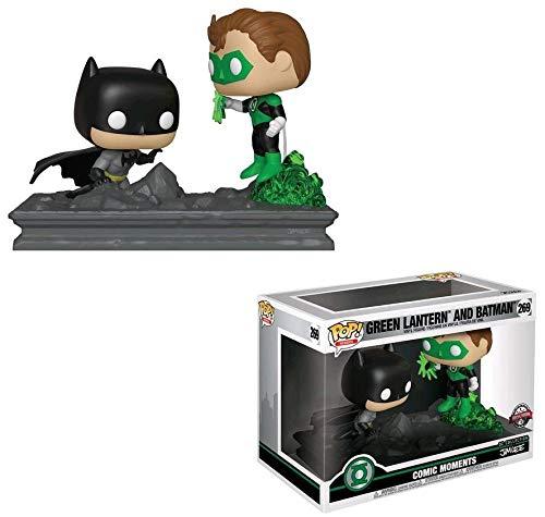 Green Lantern vs Batman GameStop Exclusive DC Universe x Funko POP Comic Moments Vinyl Figure  1 Official Marvel Trading Card Bundle 269  36292