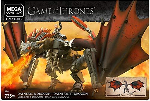 Mega Brands GKG97 Game of Thrones Daenerys and Drogon - Mega Construx Multi Color
