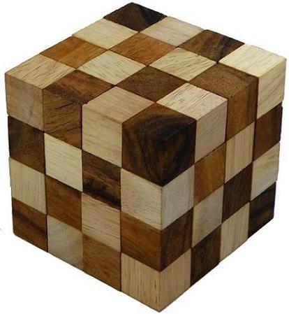 Anaconda Cube Wooden Puzzle Brain Teaser
