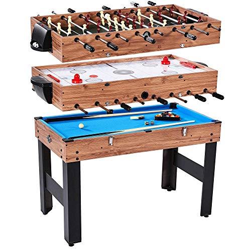 Lancaster 3 in 1 Pool Billiard Slide Hockey Foosball Combo Arcade Game Table