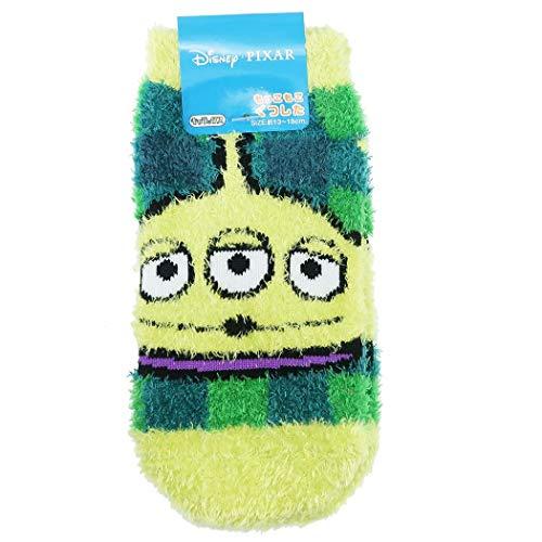 Toy Story Childrens Winter Socks Kids Fluffy Short Socks  Alien Check Disney