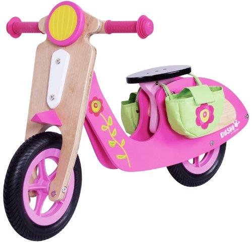 Dushi 2 Girls Wheel Walking Wooden Scooter Ride On