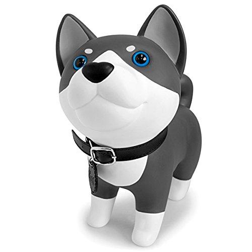 DomeStar Cute Dog Bank Husky Coin Bank Kids Toy Bank Doggy Puppy Piggy Bank for Girls Boys