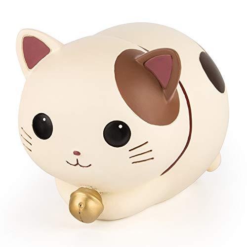 YSLON Cute Kitten Piggy BankKids Money Bankfor Boys and Girls GiftsDesktop DecorWhite