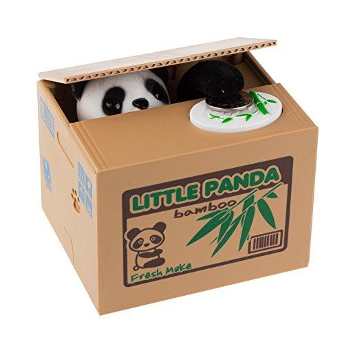 Balai Cute Stealing Coin Panda Money Box Kids Piggy Bank