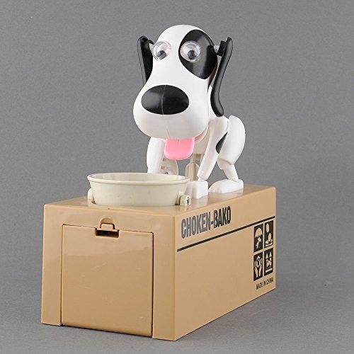 HOT Choken Hungry Eating Dog Kids Coin Bank Money Saving Box Piggy Bank Present