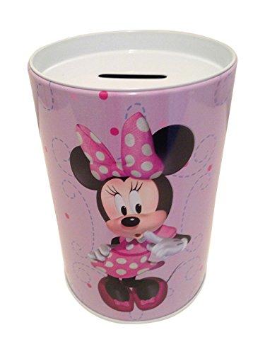 The tin box company Minnie on Purple Kids Coin Money Bank Disney