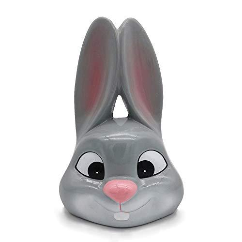 OSSI Ceramic Piggy Bank - Rabbit Bank Gift Nursery Décor Keepsake for Boys Girls Kids Adult Grey