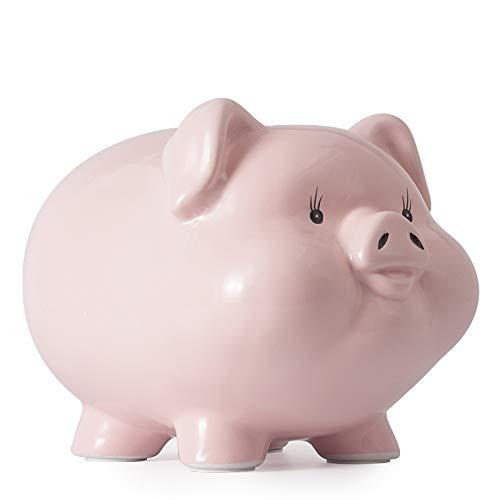 Piggy Banks for Adults Boys Girls Children Kids Coin Money Pig Pink