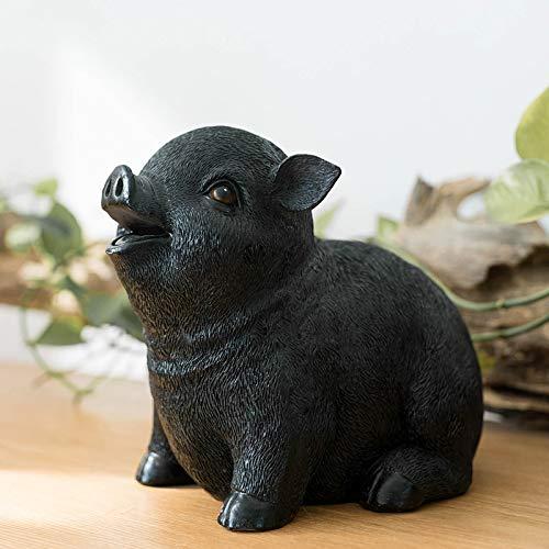 SUHXS Piggy Bank Cute Pig Decoration Storage Money Jar Boy Girl Adult Child Piggy Bank 2018Cm Black Pig Piggy Bank