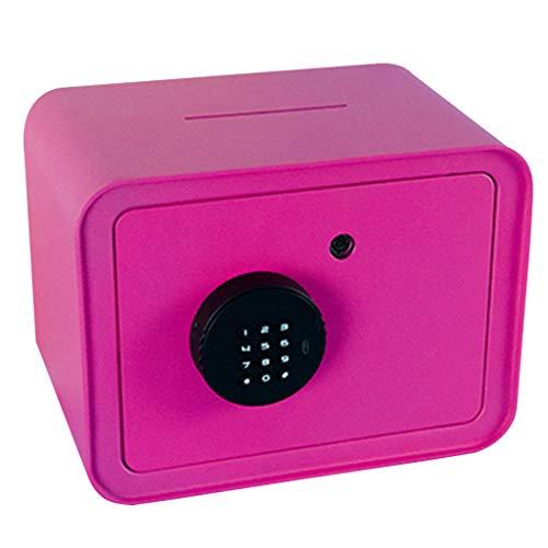 Safes Piggy Bank Large-capacity Piggy Bank Children Can Not Take A Piggy Bank Creative Password Box Adult Piggy Bank Gift Home Decoration Color  Pink Size  241618cm