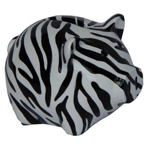 Hand-painted Mini Zebra Piggy Bank Saving Box Money Box