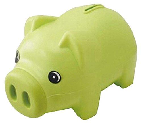 Taloyer Lovely Cute Cartoon Green Pig Shape Coin Storage Money Saving Piggy Bank for Kids Gift