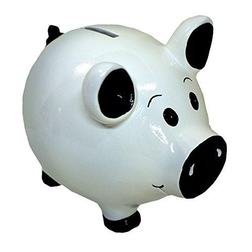 White and Black Pig Piggy Bank