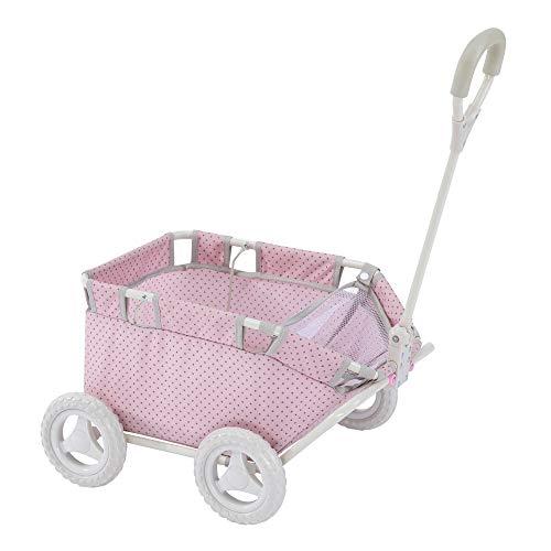 Olivias Little World - Polka Dots Princess Doll Wagon  Stroller  Baby Doll Wagon  Stuff Animal Wagon