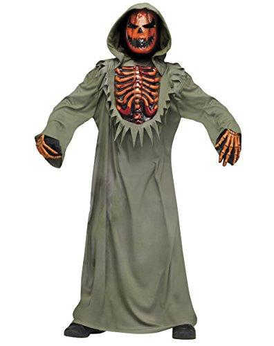 Evil Bleeding Pumpkin Halloween Costume boys size S 4-6