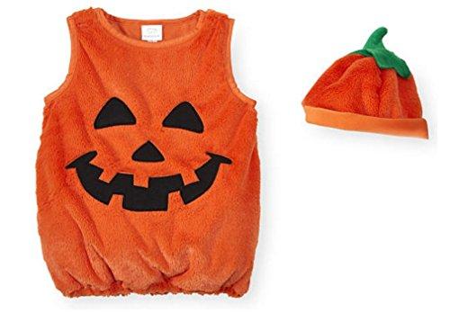 Koala Kids 2 Piece Pumpkin Halloween Costume with Hat- 12-18 Months