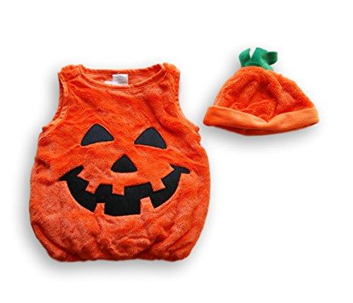 Koala Kids 2 Piece Pumpkin Halloween Costume with Hat- 9-12 Months