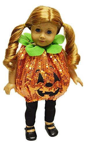 My Brittanys Sequin Pumpkin Halloween Costume For American Girl Dolls