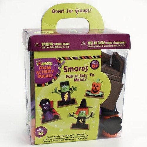 Fun Halloween Smore Foamies Bucket of Foamies Makes 16 Total Smore Witches Draculas Jack O Lanterns and Frankensteins