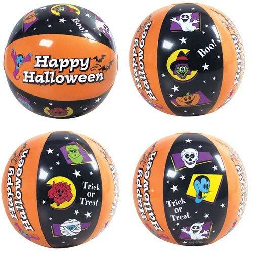 Halloween Beach Balls ~ 1DZ ~ Fun Halloween Themed Beach ball inflates ~ 16 Festive balls ~ Trick or Treat ~ Boo ~ Happy Halloween ~ Party Birthday Decor Favors~ Festive Spooky Pool Fall Fun ~ by RN