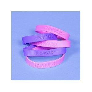 12 Princess Rubber Bracelets