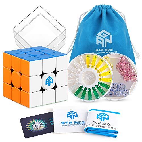 Coogam GAN 356 X Speed Cube 3x3 Stickerless Gans 356X Magnetic Puzzle Cube Gan356 X 3x3x3 M Numerical IPG Version