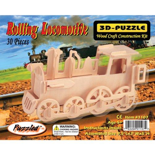 Puzzled Train 3D Jigsaw Puzzle 30-Piece 95 x 3 x 5