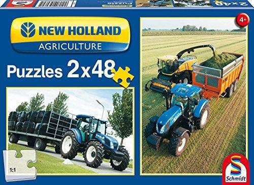 SCHMIDT Puzzles New Holland Tractors Puzzle 48-Piece by Schmidt