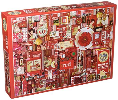 Cobble Hill Red 1000 Piece Shelley Davies Color Puzzle