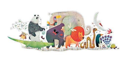 Djeco DJ07171 Giant Puzzle- Animal Parade Puzzle by Djeco