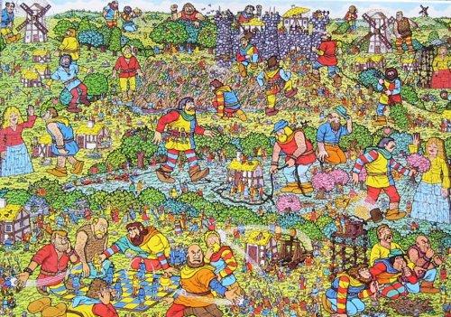 Wheres Waldo Jigsaw Puzzle-The Unfriendly Giants