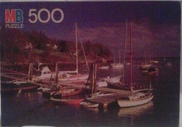 MB Puzzle Rockport Maine 500 Piece Croxley Puzzle 1986