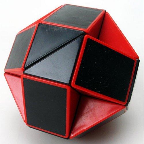 ShengShou Magic Snake Red and Black Twist Puzzle Twisty Toy