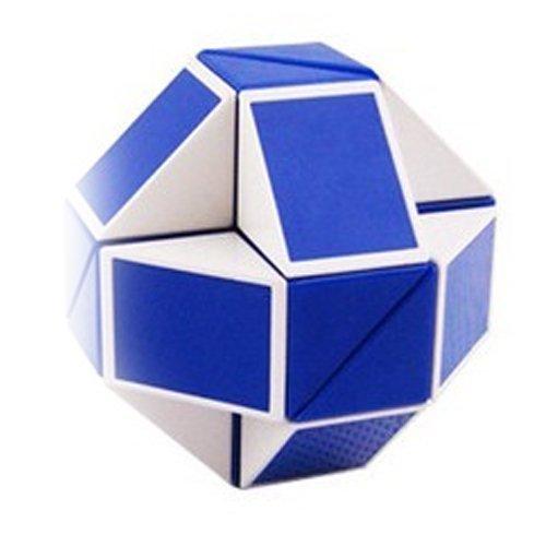 ShengShou Magic Snake White and Blue Twist Puzzle Twisty Toy
