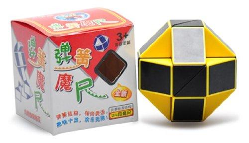 ShengshouSnake 15 Inch Magic Ruler Twist Puzzle Yellowblack