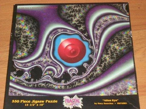 Alien Eye Puzzle 550 Pc Jigsaw Puzzle Fractal Dreams