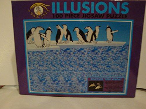Magic Eye Illusions 100 Piece Puzzle - Penquins